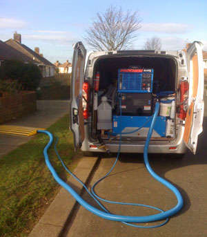 Axminster Cleaning's Truck Mounted Prochem Blazer XI gives brilliant home and office cleaning for clients in West Sussex and Surrey